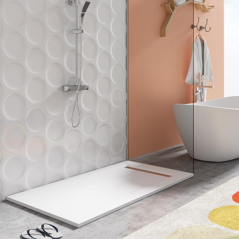 Platos de ducha de resina aligerados Azulejos Gres Porcelanico