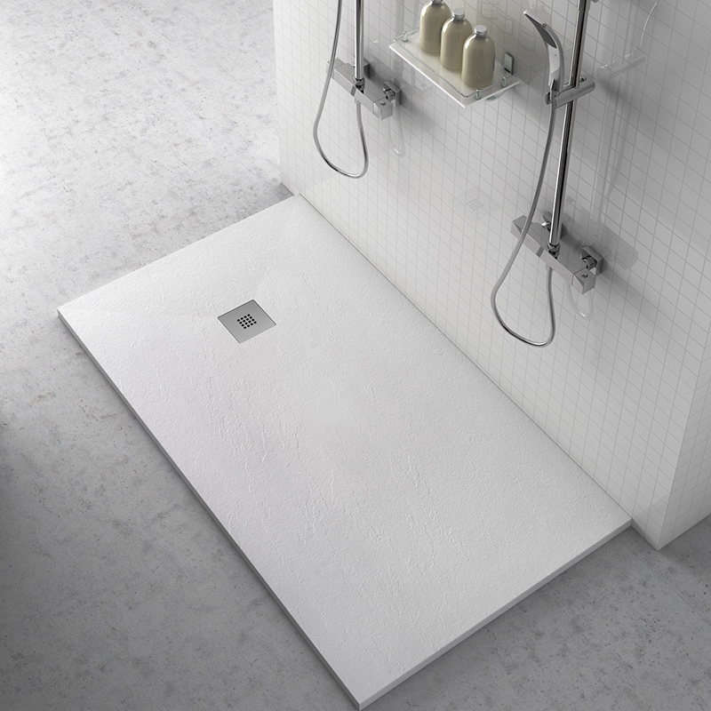 Platos de ducha de resina aligerados Plato de Ducha Modelo Clasico Azulejos Gres Porcelanico